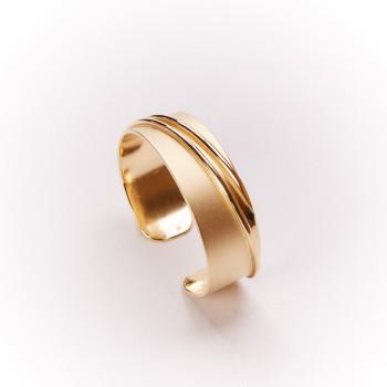 Bracelet Ligne Pure, bracelet plaqué or, bijoux de créateur, bijouterie en ligne