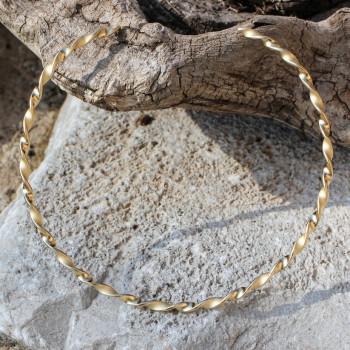 Collier plaqué or PERLA, bijou artisanal et fabrication française