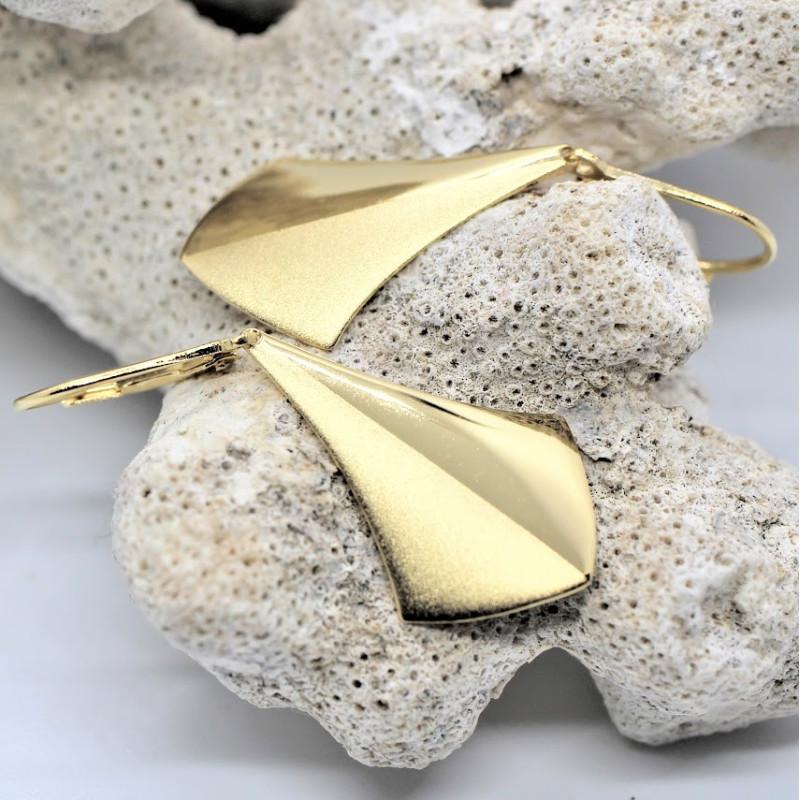 Boucles d'oreille plaqué or FLOELIA du bijoutier créateur Ludovic GOUPIL