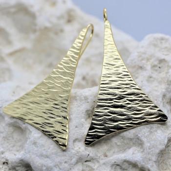 Boucles d'oreille plaqué or Georgia  du bijoutier Ludovic GOUPIL, fabrication artisanale