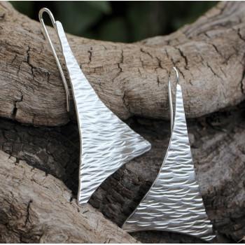 Boucles d'oreille argent Georgia, création de l'artisan bijoutier Ludovic GOUPIL