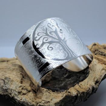 Bracelet plaqué argent Arbre de Vie réalisé par l'artisan bijoutier Ludovic GOUPIL