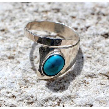 Bague argent Turquoise Romae, bijoux de créateur, vente en ligne, bijouterie