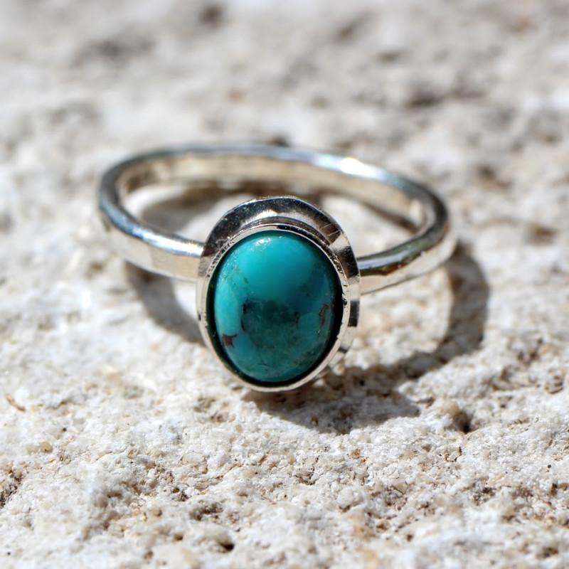 Bague argent Turquoise Classica, bijoux de créateur, vente en ligne, bijouterie