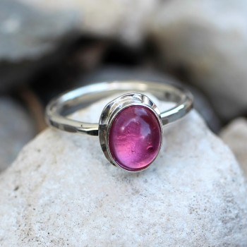 Bague argent Tourmaline rose Classica du créateur de bijoux Ludovic GOUPIL