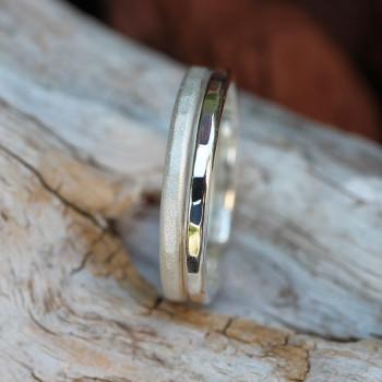 Bague argent 2 Fils, bijoux de créateur, vente en ligne, bijouterie, bijou fabrication française