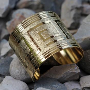 Bracelet Grec plaqué or du bijoutier Ludovic GOUPIL, bijou Made in France, bijouterie artisanale